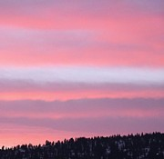 January Prints - Layered Clouds At Sundown Print by Will Borden