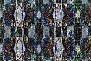 Layers Digital Art Prints - Layered Montage Print by Ron Bissett