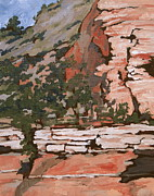 West Fork Painting Prints - Layers Print by Sandy Tracey