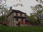Quaker Art Prints - Layfayettes Headquarters at Brandywine Print by Gordon Beck
