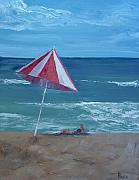 Jersey Shore Painting Originals - Layin Out by Pete Maier