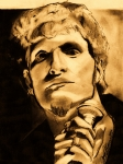 Celebrity Drawings - Layne Staley by Jason Kasper
