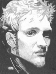 Pencil Portrait Drawings - Layne Staley by Jeff Ridlen