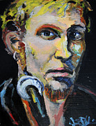 Concerts Painting Framed Prints - Layne Staley Framed Print by Jon Baldwin  Art