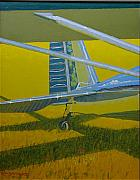 Golden Age Of Flight Framed Prints - Lazin Luscombe Framed Print by Ron Smothers