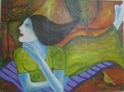 Surrealistic Paintings - Lazy Afternoon by Aisha Khan