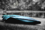 Canoes Art - Lazy Canoes by Greg Sharpe