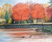 Waterfowl Pastels - Lazy Day at Penitentiary Glen by Lisa Urankar
