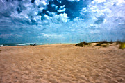 Lazy Digital Art Prints - Lazy Day Print by Betsy A Cutler East Coast Barrier Islands