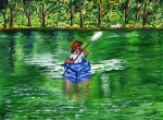 Kayak Paintings - Lazy Days of Summer by Sweta Prasad