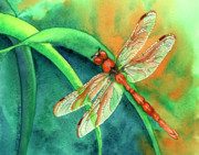 Dragonfly Framed Prints - Lazy Days Framed Print by Tracy L Teeter