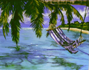 Caribbean Sea Paintings - Lazy Daze by Marco Antonio Aguilar