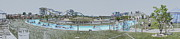 Lazy Digital Art - Lazy River at a Water Park Panorama Digital Art by Thomas Woolworth