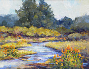 Cottonwood Paintings - Lazy River by Peggy Wilson