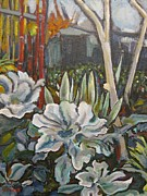 College Paintings - LBCC Horticulture Garden by Yulonda Rios