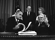Lyndon Photos - Lbjs Great Society Programs. President by Everett