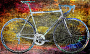 Yellow Bike Framed Prints - Le Champion Framed Print by Julie Niemela