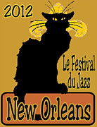 Noir Digital Art - Le Chat Noir Jazz Fest 2012 by Jerry Schwehm