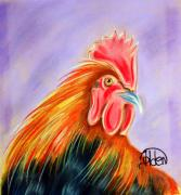 Coq Framed Prints - Le Coq Framed Print by Jo Hoden