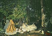 Monet; Claude (1840-1926) Prints - Le Dejeuner sur lHerbe Print by Claude Monet