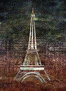 Paris Digital Art Posters - Le Eiffel Poster by Lauren Goia