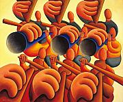 Team Paintings - Le Grande Band by Alan Kenny