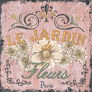 French Prints - Le Jardin 1 Print by Debbie DeWitt