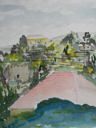 Mount Lebanon Paintings - Le Liban Perdu 1  by Marwan George Khoury