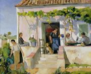 Family  On Canvas Paintings - Le Mazet by Armand Coussens