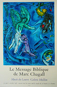 Bible Drawings Originals - Le Message Biblique Original 1967 Poster by Marc Chagall