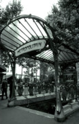 Paris Prints Photos - Le Metro as Art by Kathy Yates