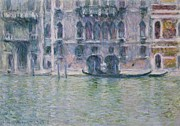 Venetian Canals Framed Prints - Le Palais da Mula Framed Print by Claude Monet