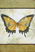 Butterfly Paintings - Le Pappilon-1 by Jean Plout