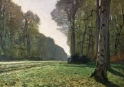 Rural Landscape Metal Prints - Le Pave de Chailly Metal Print by Claude Monet
