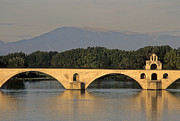 Pillars Photo Framed Prints - Le Pont Benezet.Avignon. Provence. Framed Print by Bernard Jaubert