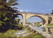 Le Pont Canal A Briare Print by Henri Joseph Harpignies
