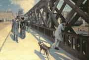 Paris Paintings - Le Pont de LEurope by Gustave Caillebotte