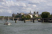 Ile De France Prints - Le Pont des Arts. Paris. France Print by Bernard Jaubert