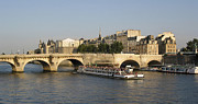 House.houses Framed Prints - Le Pont Neuf. Paris. Framed Print by Bernard Jaubert