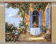 Door Paintings - Le Porte Blu by Guido Borelli