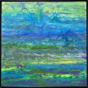 Blues And Greens Prints - Le Printemps-sold Print by Lou Cicardo