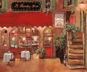 Cafe Painting Framed Prints - Le Rendez Vous Framed Print by Guido Borelli