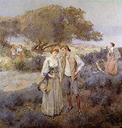 Courting Painting Prints - Le Retour de Cythere Print by William Lee