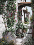 Arch Framed Prints - Le Rose Rampicanti Framed Print by Guido Borelli