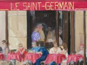Bistro Paintings - Le Saint-Germain by Georgeanne Wayman