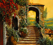 Orange Prints - Le Scale   Print by Guido Borelli