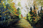 Geese Paintings - Le sentier du flaneur by Renald Gauthier