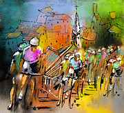 Le Tour De France 04 Print by Miki De Goodaboom