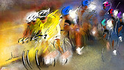 Peintures Cyclisme Prints - Le Tour de France 05 Print by Miki De Goodaboom