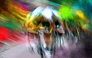 Art Cyclisme Prints - Le Tour de France 08 Print by Miki De Goodaboom